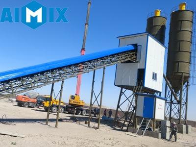 Aimix AJ90 Бетонный Завод в Узбекистане