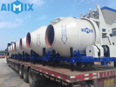 Aimix 17 шт. бетоносмесителей отгрузил в Узбекистан