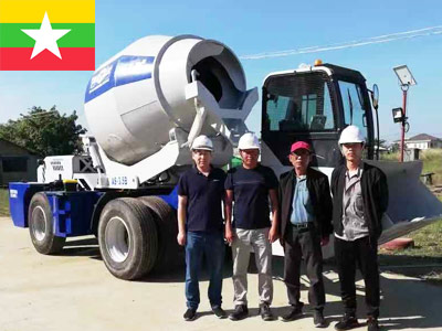 Автобетоносмеситель с самозагрузкой 3.5куб в Мьянме