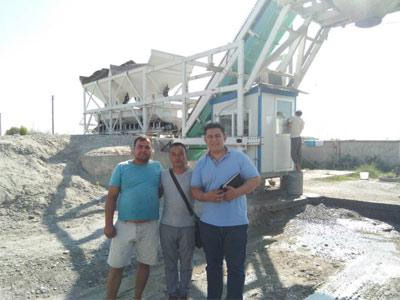 Мобильный бетонный завод AJY40 в Узбекистане