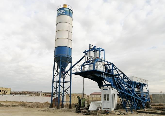 Мобильный бетонный завод AJY35 в Узбекистане