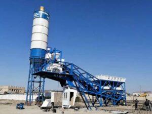 Мобильный бетонный завод AJY35 установил в Узбекистане