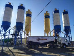 Aimix Бетонный завод 2AJ50 в Узбекистане