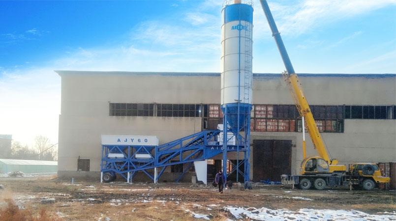 Мобильный бетонный завод AJY60