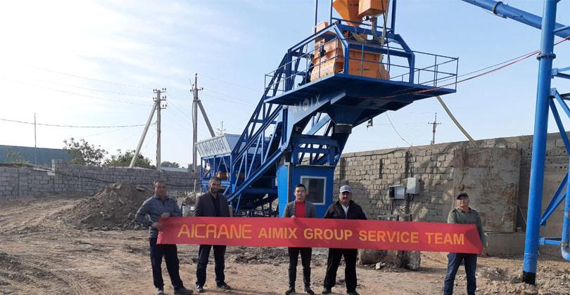 Aimix AJY35 Мобильный бетонный завод