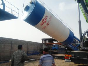 Aimix Мобильный бетонный завод AJY35 в Узбекистане