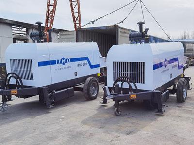 3шт Aimix Стационарный бетононасос отгрузили в Узбекистан