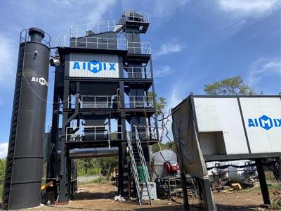 Aimix Асфальтобетонный завод 100 тонн в Шри-Ланке