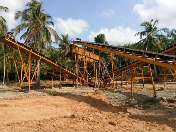 Aimix Дробильно-сортировочный комплекс 200 Т в Шри-Ланке