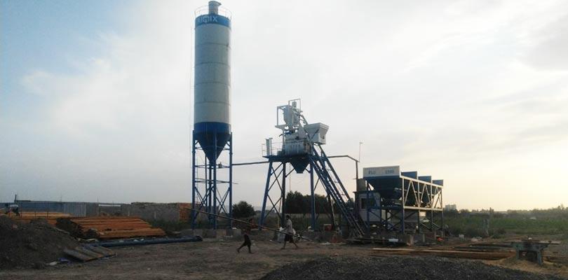 Бетонный завод AJ35 установился в Узбекистане