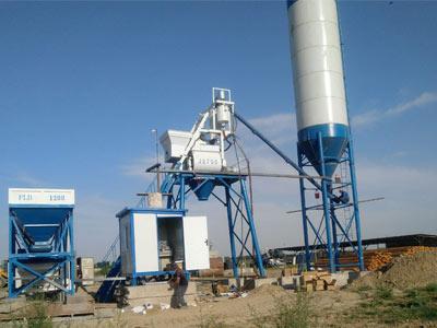 Aimix Бетонный завод AJ35 в Узбекистане