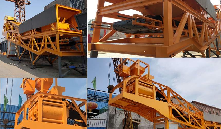 Aimix Мобильный бетонный завод AJY60 на заводе